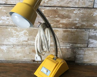 Vintage Gooseneck Sunflower Yellow Shabby Chic Table Lamp