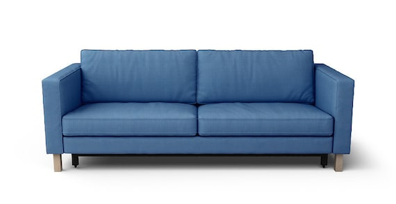 ikea karlstad canap lit housse seulement en tissu chevrons. Black Bedroom Furniture Sets. Home Design Ideas
