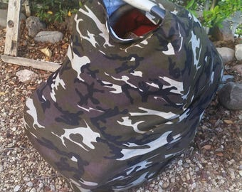 Baby Car Seat Canopy - Boys Stretchy Car Seat Cover - Nursing Poncho - Camouflage  Baby Cover - Baby Shower Gift - Multi Purpose Baby Cover