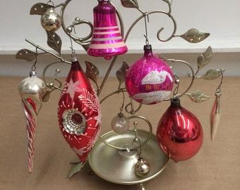 Set of 9 Vintage Christmas Ornaments