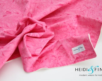extralarge Modern watercolor pink baby blanket organic flannel cotton LIMITED swaddle blanket quilt watercolour