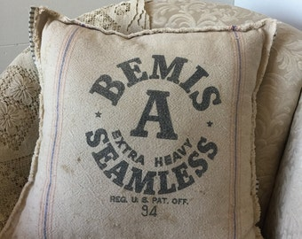 Grain Sack Bemis Pillow Cover by Gathered Comforts