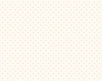 Le Creme baby pink swiss dots on cream basics by  Riley Blake - C600-75 blender