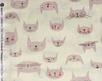 Lizzy House Catnap Cattitude cream FQ or more