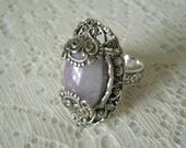Moroccan Amethyst Ring, boho jewelry bohemian jewelry amethyst jewelry moroccan jewelry hipster new age metaphysical gypsy ring boho ring