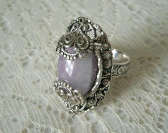 Moroccan Amethyst Ring, boho jewelry bohemian jewelry amethyst jewelry moroccan jewelry hipster new age metaphysical gypsy ring boho ring