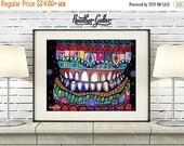 50% Off Storewide- Dentist Teeth Surreal tooth Art  Art Print Poster by Heather Galler Medical Illustration Anatomical Dental (HG8667)
