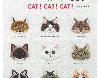 Cat! Cat! Cat! Embroidery book-  Zakka Japanese Craft Book