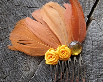 Feather Hair Comb, Feather Hair Accessories, Hair Accessories for Girls, Boho Hair Accessories, Boho Hair, Feather Hair Clip, Hair Feathers