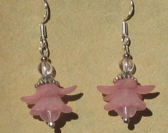 Pink Fairy Flower Earrings