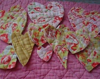 20 Vintage Durham Cosy Quilt Hearts