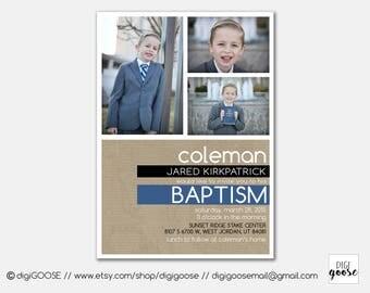 BAPTISM invitation // Baptism announcement // LDS baptism // LDS Boy Baptism invitation // Personalized // Printable // Modern Baptism
