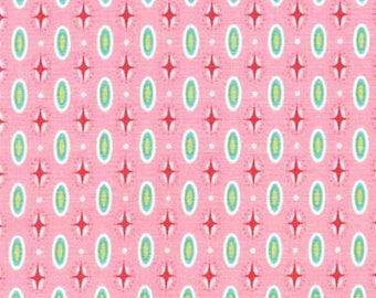 Michael Miller Into The Deep Mariner Dot Pink fabric - 1 yard