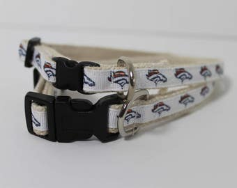 Denver Broncos hemp cat or dog collar