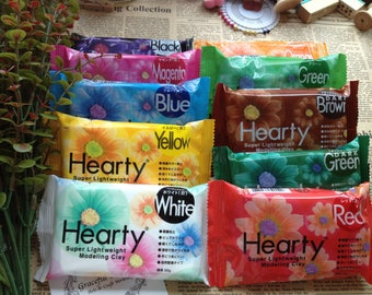 Hearty Super Lightweight Modeling Clay 50g - 10 colors for your own choice