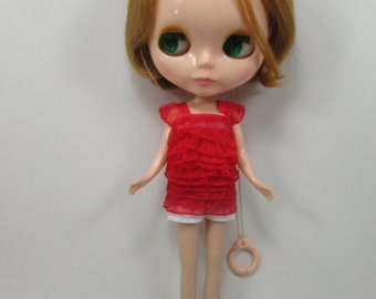Handmade clothing a top layer blouse for Blythe,Pullip doll  A-6