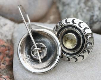 Silver Earrings ,Lemon Quartz Earrings, Handmade Earrings,Yellow Stone Earring, Birthstone Earrings ,Lemon quartz Silver Jewelry,