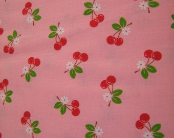 Pink Cherry Fabric by the Yard Sew Cherry