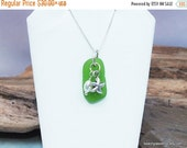 ON SALE FREE Shipping Sterling Sea Glass Necklace - Sea Glass Necklace - Starfish Necklace - Lake Erie Beach Glass - Free Shipping inside th