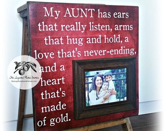 aunt gift gifts for aunt aunt picture frame aunt frame aunt and niece new aunt gift aunt and nephew aunt and uncle frame 16x16