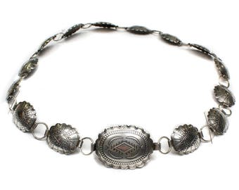 vintage sterling silver concho belt • handmade artisan made