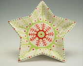 Star Dish Dessert, Appetizer, Trinket, Salad Plate Hand Painted Designs Dinnerware