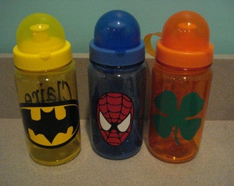 Kids water bottles with straws personalized for free great for party favors birthday favors class room give aways