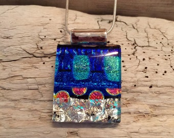 Dichroic glass pendant,Dichroic glass, Pendant,glass,necklace,  jewelry, Fused Glass Jewelry, handmade dichroic glass, glass pendant, glass