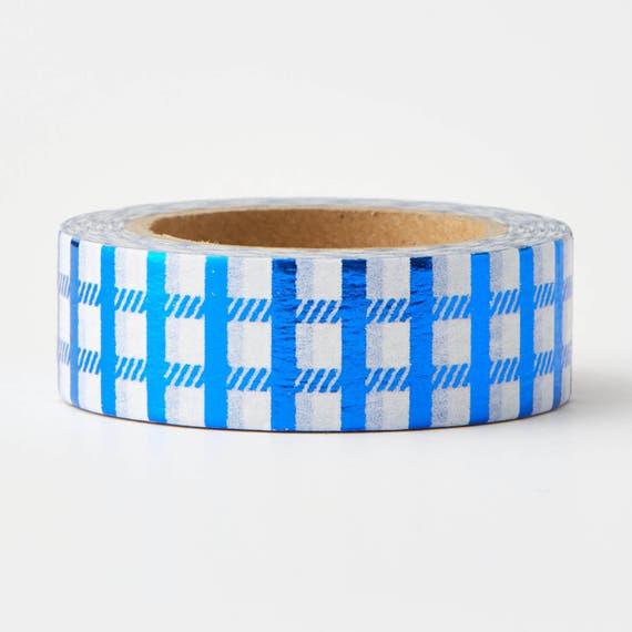 Basket Making Supplies New York : Blue checker foil tape craft supplies train washi card