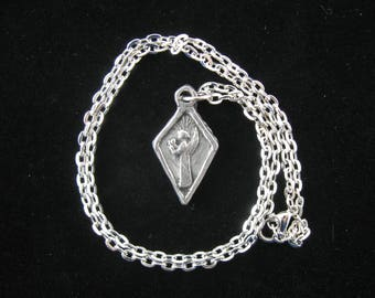 Guardian Angel of Mothers, Handmade Medal on Chain