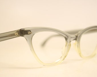 Gray fade cat eye eyeglasses American Optical AO vintage cat eye glasses frames Cateye frames