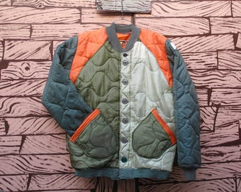 HAND MADE reversible quilted liner jacket