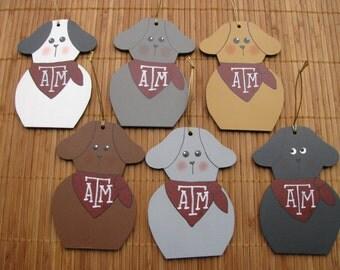 2159 Texas A&M Aggie dog ornament