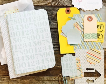 Numbers + Scallops Planner Inserts . Set of 2 . Mint Seafood Blue Field Notes Pocket A6 TN Travelers Notebook Midori Fauxdori . Listers List