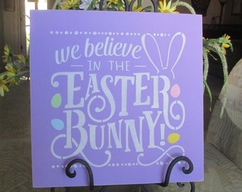 Easter (subway art) Wooden Sign . . . Sign - Wooden Sign - Wooden Easter Sign