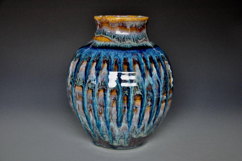 Pottery Vase Stoneware Flower Vase Handmade Ceramic Vase