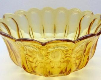 Vintage Gold Glass Serving Bowl