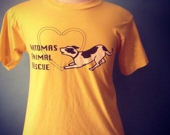 SALE Vintage Dog Animal Rescue Tshirt