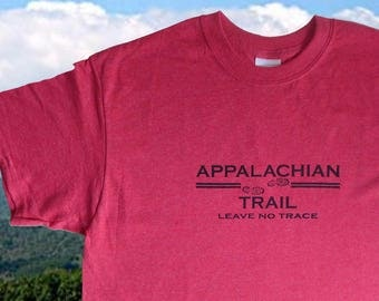 Appalachian Trail Tshirt Leave no trace heather red color