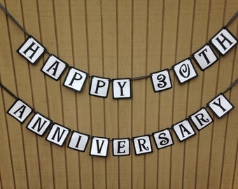 30th Anniversary Banner - Wedding Anniversary Decorations