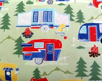 Trailer Fabric Camp Trailer Fabric Camping Material Tent Fabric By the Yard Sewing Supplies Quilting Supplies Craft Supplies