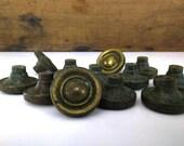 Vintage Brass Cabinet Knobs - Priced Each / Dresser