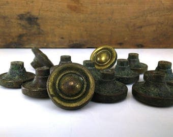 Vintage Brass Cabinet Knobs - Priced Each / Dresser