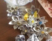 4 simple corsages featuring yellow flowers