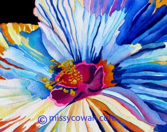 MORNING HIBISCUS - Giclee of Watercolor Painting