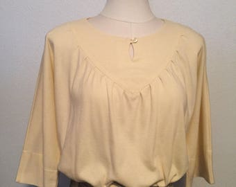 70s Bobbie Brooks cream blouse with bell sleeves