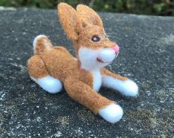 Ooak Needle Felted Brown bunny
