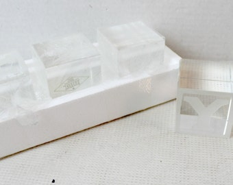 Crystal Baby Block Set Godinger collectible