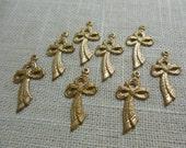 Brass Bow Charm