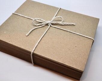 BLANK KRAFT Postcard - Brown Bag Post Cards - Qty 100 - 4 1/4 x 5 1/2 - Brown Bag Kraft - Response Card